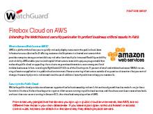 Feature Brief: Firebox Cloud on AWS