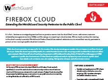 Datasheet: Firebox Cloud