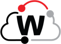 WatchGuard Logo inside a black, red and gray cloud