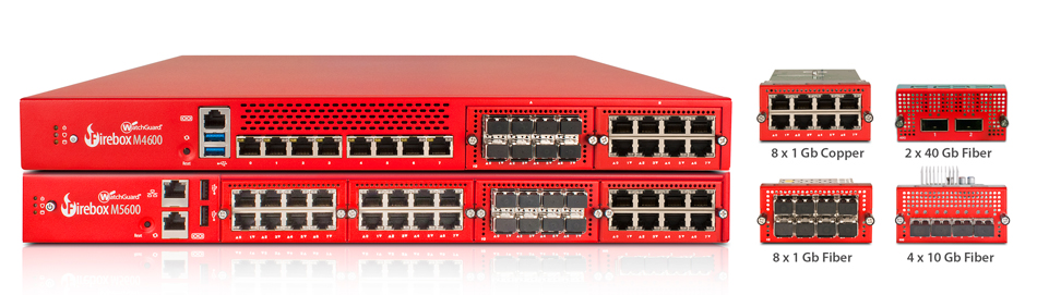 Product Photo: WatchGuard Firebox M4600 & M5600 plus Optional Modules
