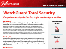 Çözüm Broşürü: WatchGuard Secure Cloud Wifi
