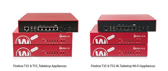Photo: WatchGuard Firebox T35, T35-W, T55 & T55-W