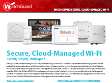 Solution Brochure: WatchGuard Secure Cloud Wi-Fi