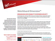 Thumbnail: WatchGuard Dimension Datasheet