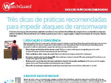 Ransomware: Dicas de práticas recomendadas