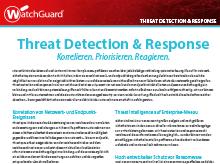 Broschüre: Threat Detection and Response