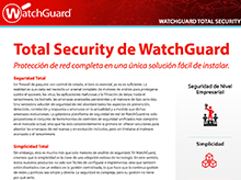 WatchGuard Total Security: Suscripciones a UTM