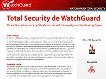 Fiche technique: Total Security de WatchGuard