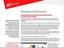 Hoja de datos: WatchGuard Dimension