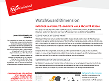 Fiche technique : WatchGuard Dimension