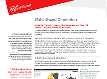 Datasheet: WatchGuard Dimension