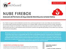 Hoja de datos: Firebox Cloud