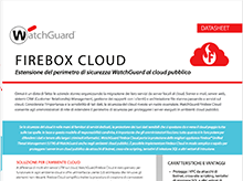 Datasheet: Firebox Cloud