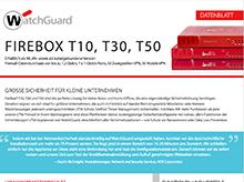 Datenblatt zur Firebox T-Serie