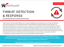 Datenblatt: Threat Detection and Response