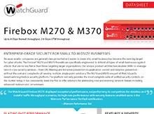 Datasheet: Firebox M270 & M370