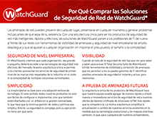 Matriz de productos WatchGuard