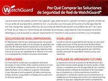 Matriz de productos de WatchGuard