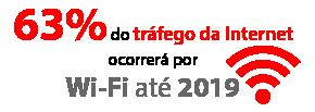 63%do tráfego da Internetocorrerá por Wi-Fi até2019