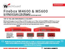 Datasheet: Firebox M4600 & M5600
