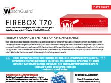 Firebox T70 Datasheet