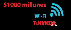 $1000 millones es el costo estimado de la brecha de Wi-Fi 2007 TJ Maxx