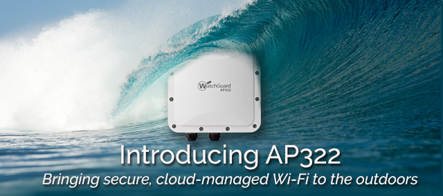 WatchGuard AP322: Surfing Is Meant To Be Done Outdoors