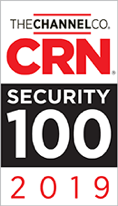 CRN logo on white above a black bar that reads Security 100