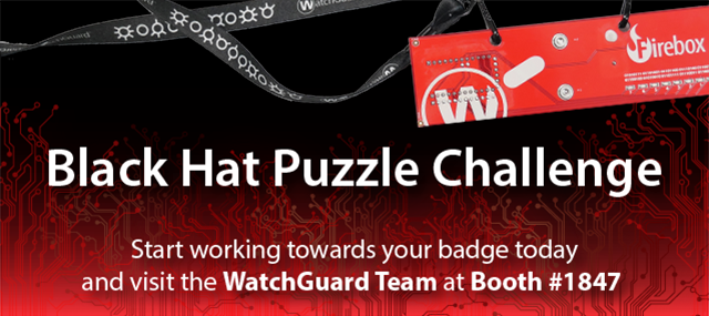 WatchGuard Challenges BlackHat Attendees