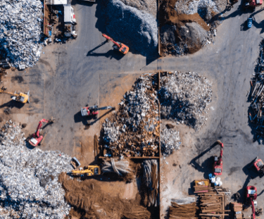 Environmental Impact - Overhead view of a construction site