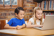 Photo: children in the library