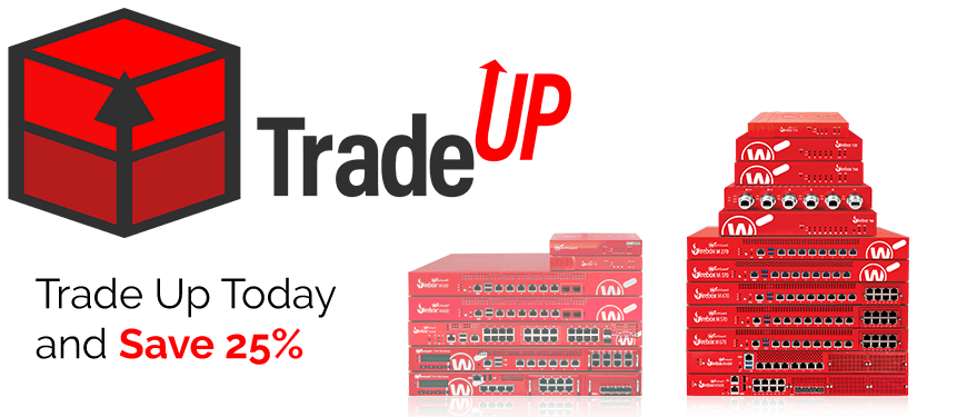 Trade Up and Save 25% next to 2 stacks of red Firebox Appliances