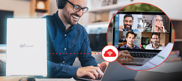 Remote Access Point (RAP) connects remote workers to the Firebox via Cloud