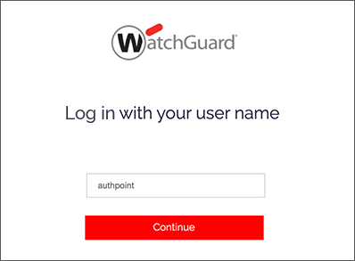 WatchGuard Cloud Login Screen