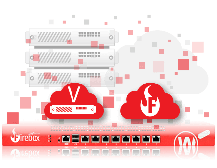 Illustrazione: soluzioni Firebox virtuali/sul cloud