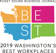 Multicolored image of Washington State with BEST written on it