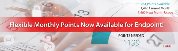Panda endpoint products available through prepaid points