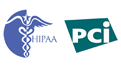 Logos: HIPAA and PCI Compliance