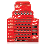 Red Firebox appliances in a stack
