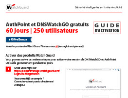 Miniature : Guide d'activation AuthPoint et DNSWatchGO
