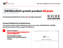 Miniature : Guide d'activation pour DNSWatchGO