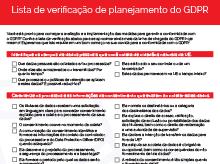 Miniatura: Lista de verificação sobre GDPR