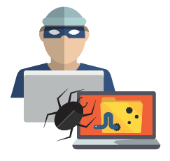Planting Malware illustration