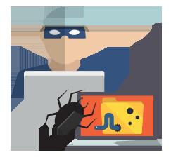 Planting Malware illustration